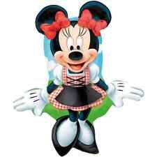 Folienballon, Minnie Maus Lederhosen, Anagram XL, Markenware Mit und ohne Helium