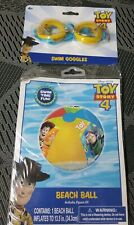 Disney Pixar Toy Story 4 Inflatable Beach Ball with Repair Kit  and Swim Goggles