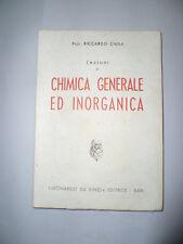 Lezioni di Chimica Generale ed Inorganica Riccardo Ciusa 1952
