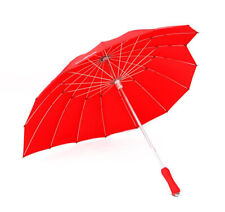 Rain Umbrella 16k Red Heart Shape Wind Break Sun Sunshade Retro Parasol Wedding