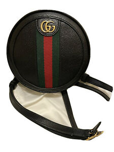 New Authentic Gucci Ophidia Mini Backpack Shoulder Mini Round Beige bag  598661