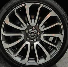 "Range Rover 2013+ L405 Autobiography OEM 22"" 7 Spoke Wheels Technical Grey NEW"