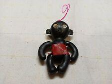Rare Blinky Winky Black Doll Plastic Googly Eyes Ethnic Dakkochan Mascot Vtg 60s