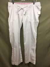 Oh! Baby Motherhood Maternity Casual Convertible Capri / Pants WHITE Med Tie