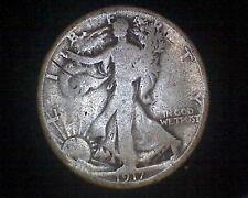 1917-S WALKING LIBERTY SILVER HALF DOLLAR MINTMARK ON REVERSE #15514