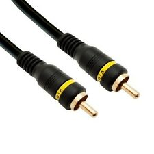 Eagle 50 FT RCA Male Cable Audio Video Python Gold Shielded Home Theater TV/VCR