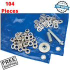 1/2 Inch Grommet Kit Installation Hole Puncher For Tent Tarp Repair 104 Pieces