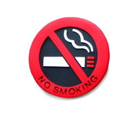 2x Rauchverbot 3D Rauchen verboten Zigaretten Auto Verbot Sticker Aufkleber