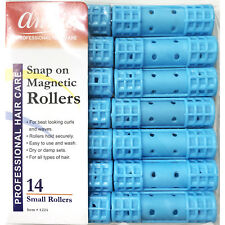 """ANNIE SNAP ON MAGNETIC ROLLERS #1224, 14 COUNT BLUE SMALL 1/2"""""""