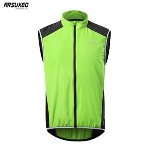 Cycling Vest Windproof MTB Downhill Sleeveless Jacket Bicycle Jersey Reflective