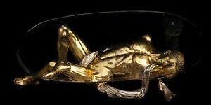 FINE ARTS Wohnkultur Bronze Sculpture Figur Erotic Dreams Lifesize Coffee Table