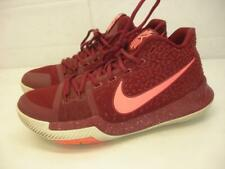 Men's sz 8.5 Nike Kyrie 3 Warning Hot Punch Red Lava Basketball Shoes 852395-681