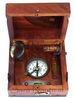 Nautical Brass Marine Master Box & Nautical Compass Telescope Magnifying Glass