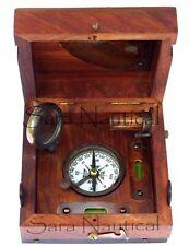 Nautical Brass Marine Master Box & Nautical Compass Telescope Magnifying Glass