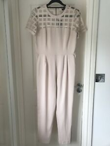 NEW WITH TAGS River Island Jumpsuit Light Pink Size 10 RRP £50