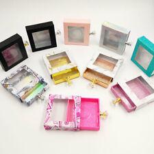 Women Glitter Square Lash Box 25mm False Eyelashes Crystal Handle Empty Cases