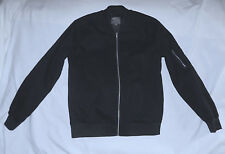 ASOS -100% Cotton front Zip Bomber-Size Large-Black color-Lined-New condition !!