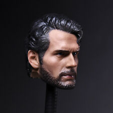 1/6 Scale Head Model Sculpt Carving Henry Cavill Superman Decaent Toy Figure