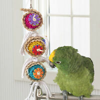 Pet Bites Parrot Birds Climb Chew Bell Cage Hanging Swing Cockatiel Parakeet Toy