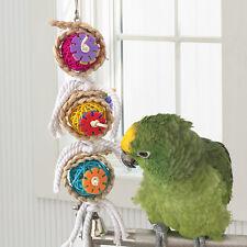 Pet Bird Toy Parrot Rope Cage Hanging Bites Chew Toys Parakeet Cockatiel Budgie