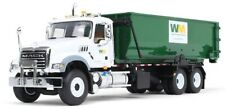First Gear Waste Management 1/34 Mack Granite with Tub-Style Roll-Off Container