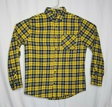 Rue 21 Size XXL Plaid Flannel Shirt Long Sleeve Yellow Button Up