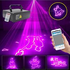 Phone Bluetooth program animation pink laser light DMX DJ home party stage light