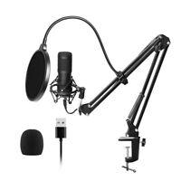 USB Microphone Kit Professional Podcast Condenser Mic for PC Karaoke Studio M2R0