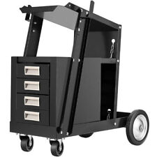 Rolling Welding Cart With Tank Storage 4 Drawers Tig Mig Welder Plasma Cutter