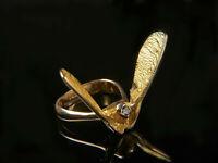 Natur - Ring - Ahorn-Flügel mit Brillant Günter Krauss Stuttgart - Gold 750