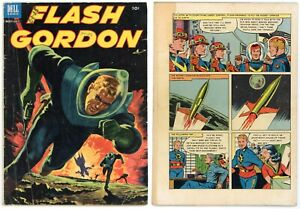 Flash Gordon #2 (GD+ 2.5) Painted Cover Art Defenders of the Earth 1953 Dell