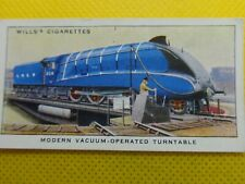 WILL'S CIGARETTE CARD ,VINTAGE ,(   MODERN VACUUM-OPERATED TURNTABLE  ) .