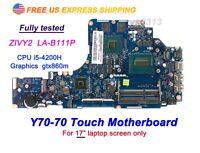 Lenovo Y70-70 Y70-70T 80DU ZIVY2 LA-B111P Intel i5-4200H CPU GTX860m Motherboard