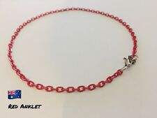 Aronas Red &Silvertone Customised Anklet Ankle Bracelet Foot Beach Feet Jewelry
