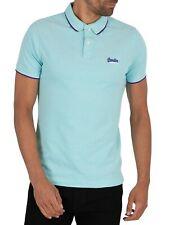 Superdry Men's Poolside Pique Polo Shirt, Blue