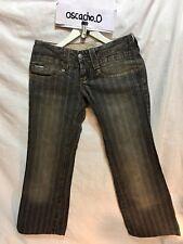 Jeans Para Mujer Calvin Klein forrado con aspecto envejecido & ligero desgaste Negro/Tan Tamaño 26 W 28 L