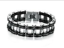 Stainless Steel & Silicone Bracelet locking Clasp Premium Quality Range LB66
