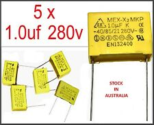1.0uf  280v AC Safety Capacitor MEX X2 MKP Film Capacitor -5 pieces- (Part#013)