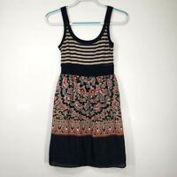 Bailey 44 Women's Dress Small S Silk Tank Stripe Sleeveless Paisley Boho