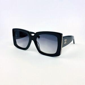 NEW CHANEL CH 5435 Black Silver Gray Women's Men's Rectangle Sunglasses Eyewear