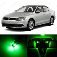 11 x Green LED Interior Light Package For 2011 - 2013 VW Jetta MK6