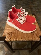 Adidas NMD R1 Boost Running Shoes Active Red Ecru Tint Mens BD7897 Size 9!!