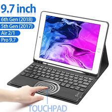"""For iPad 9.7"""" 6th Gen/2018 5th/2017 Pro Air 2/1 Magnetic Case+Touchpad Keyboard"""