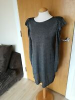 Ladies DPs Dress Size 12 Silver Grey Shimmer Bodycon Party Evening