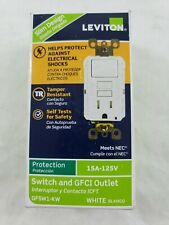 Leviton GFSW1-KW 15 Amp Switch and GFCI Outlet in White