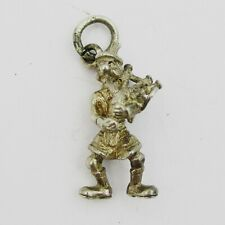 Nice Silver Scottish Kilted Piper Charm 2 grams