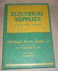 Electric Supply Hardcover Catalog Pittsburgh PA 1950 Vintage Book With Prices
