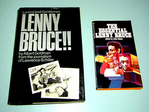 2 Books LENNY BRUCE COMEDY RELIGION SEX MARIJUANA OBSCENITY BUSTS psychedelic