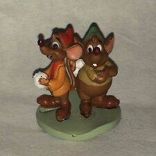 Disney Store Authentic GUS & JAQ FIGURINE Cake TOPPER MOUSE Cinderella TOY NEW