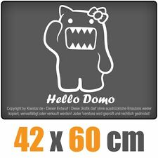 Hello Domo  chf0278 weiß 60 x 43 cm Heckscheibenaufkleber  Auto Car Scheibe